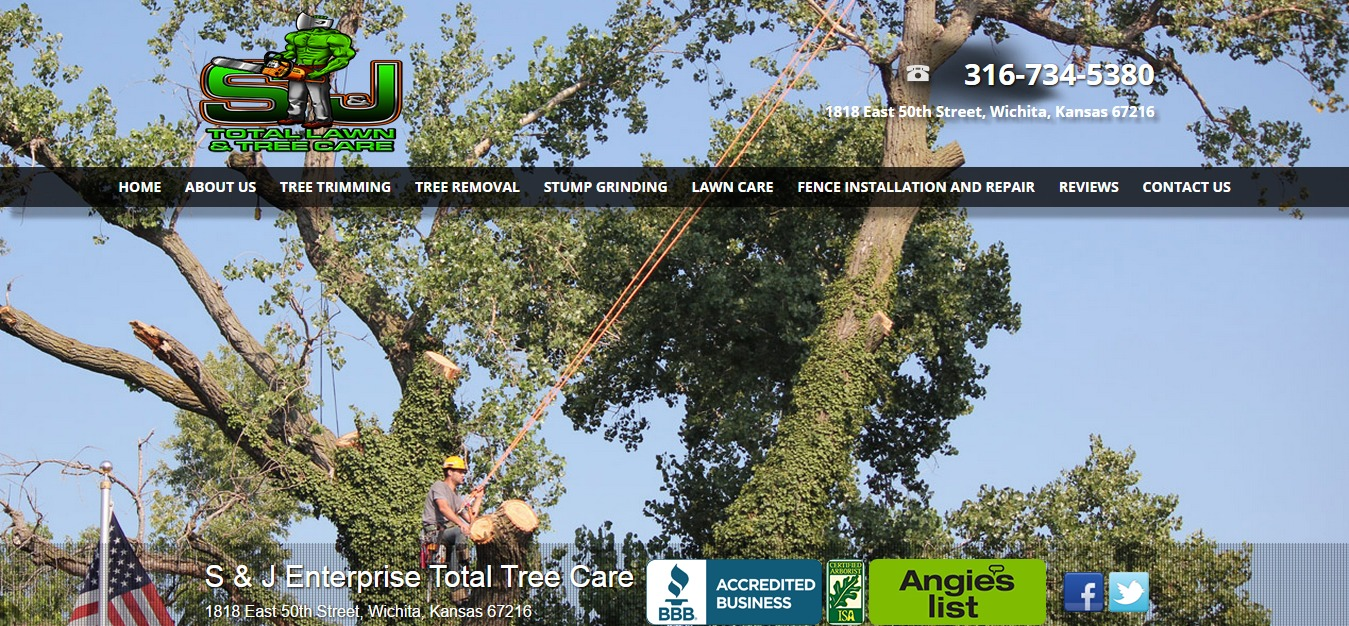 S   J Total Lawn and Tree Care   Trimming   Removal  Wichita  KS